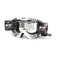 Progrip 3458/14 Top Line Motocross  XL Roll Off Goggles Grey