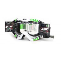 Progrip 3458/14 Top Line Motocross  XL Roll Off Goggles Green