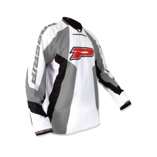 Progrip 7010-14 Adult Motocross Shirt Grey