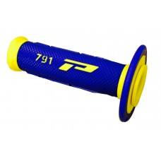 Progrip 791 MX Dual Density Fluorescent Yellow-Blue Grips