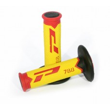 Progrip 788 MX-Motocross Triple Density Grips Red- Fluorescent Yellow