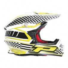 Progrip 3090  Triple Composite Helmet Fluorescent White- Yellow