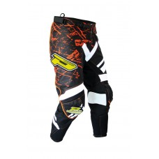 Progrip 6009 Youth Motocross-Off Road Pants-Trousers White/Orange