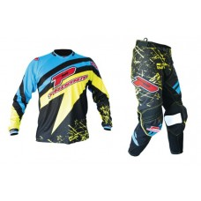Progrip 6010-7010 Adult Motocross-Enduro Kit Blue/Yellow