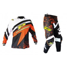 "Progrip 6009-7009 Youth Motocross-Enduro Kit White/Orange 26"" Waist"
