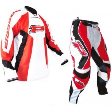 Progrip 6010-7010 Adult Motocross-Enduro Pants & Shirt MX Kit Red
