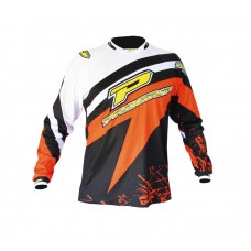 Progrip 7009 Youth Motocross-Off Road Shirt  White/Orange XL