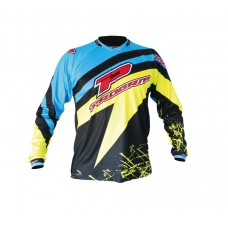 Progrip 7010 Adult Motocross Shirt Blue/Yellow Large