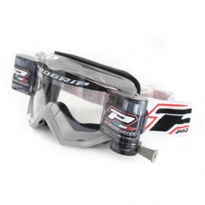 Progrip 3208 Race Line Motocross XL Roll Off Goggles Silver