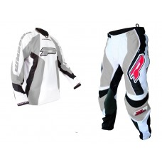 Progrip 6010-7010 Adult Motocross-Enduro Pants & Shirt  MX Kit Grey