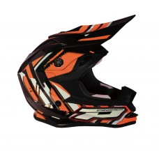Progrip 3009 Youth ABS Motocross Helmet Orange-Black