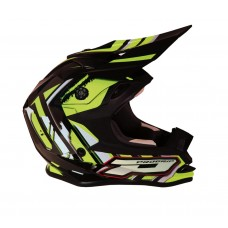 Progrip 3009 Youth ABS Motocross Helmet Fluorescent-Yellow-Black