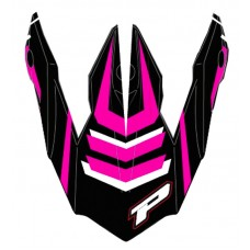 Progrip 3195 Replacement Motocross Helmet Peak Pink