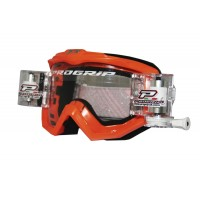 Progrip 3201 Race Line Motocross Goggles with RnR-XL Roll Off System Orange