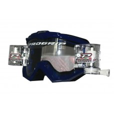 Progrip 3201 Race Line Motocross Goggles with RnR-XL Roll Off System Blue