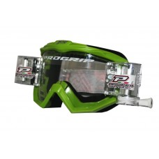 Progrip 3201 Race Line Motocross Goggles with RnR-XL Roll Off System Green