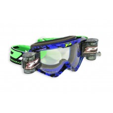 Progrip 3458 Motocross  XL 40mm Film  Roll Off Goggles Blue-Black Frame