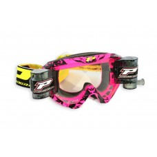 Progrip 3458/16 Top Line Motocross  XL Roll Off Goggles Pink-Black