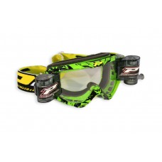 Progrip 3458/16 Top Line Motocross  XL Roll Off Goggles Green-Black