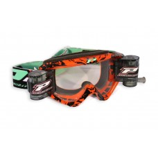 Progrip 3458/16 Top Line Motocross  XL Roll Off Goggles Orange-Black