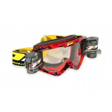 Progrip 3458 Motocross  XL 40mm Film Roll Off Goggles Red-Black Frame