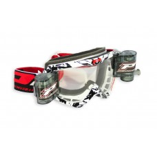 Progrip 3458 Motocross  XL 40mm Film Roll Off Goggles White-Black Frame