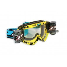 Progrip 3458 Motocross  XL 40mm Films Roll Off Goggles Yellow-Black Frame