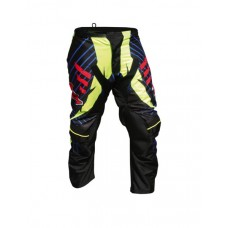 "Progrip 6009 Youth-Kids Motocross Graphic Pants Black-Yellow 22""- Waist"