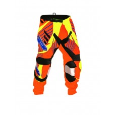 Progrip 6010-16 Adult Motocross Pants Orange- Yellow
