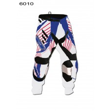 Progrip 6010-16 Adult Motocross Pants White-Blue