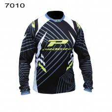 Progrip 7010-17 Adult Motocross Shirt Black