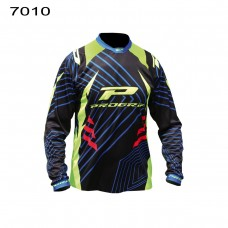 Progrip 7010-17 Adult Motocross Shirt Black-Yellow