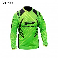 Progrip 7010-17 Adult Motocross Shirt Green-Black