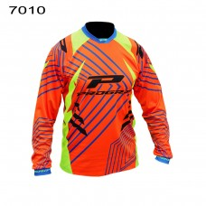 Progrip 7010-16 Adult Motocross Shirt Orange-Yellow