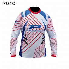 Progrip 7010-16 Adult Motocross Shirt White-Blue 3XL