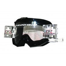 Progrip 3201 Race Line Motocross Goggles with RnR-XL Roll Off System Black