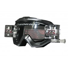 Progrip 3201 Race Line Motocross Goggles with RnR-XL Roll Off System Silver