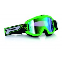 Progrip 3204 Race Line Fluorescent Green Motocross Goggles with Multilayered Lens