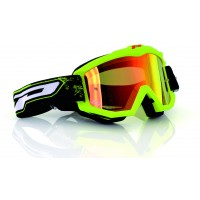 Progrip 3204 Race Line Fluorescent Yellow Motocross Goggles with Multilayered Lens