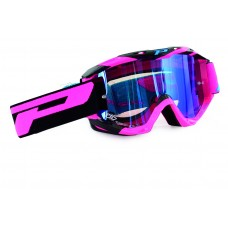 Progrip 3450 Multilayered Mirrored Motocross Goggles Pink-Black