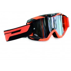 Progrip 3450 Multilayered Mirrored Motocross Goggles Orange-Black