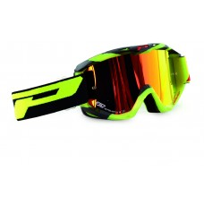 Progrip 3450 Multilayered Mirrored Motocross Goggles Fluorescent Yellow-Black