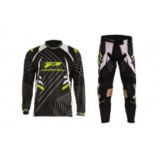 Progrip 6010-7010-17 Adult Motocross Pants + Shirt Black