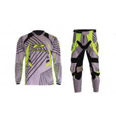 Progrip 6010-7010-17 Adult Motocross Pants + Shirt Grey