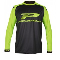 Progrip 7010-18 Adult Motocross Shirt Black-Flo Yellow