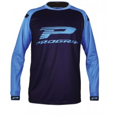 Progrip 7010-18 Adult Motocross Shirt Blue- Light Blue