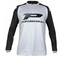 Progrip 7010-18 Adult Motocross Shirt White-Black