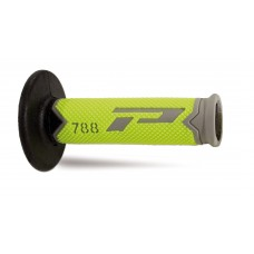 Progrip 788 MX-Motocross Triple Density Grips Fluorescent Yellow-Grey-Black