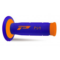 Progrip 791 MX Dual Density Fluorescent Orange-Blue Grips