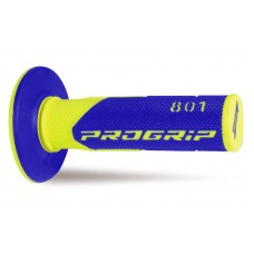 Progrip 801 MX Dual Density Grips Fluorescent Yellow-Blue